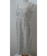 TASTE LUXURY HUMOR Barney's Dress Grey Jacqured Rose Print Sleeveless NW... - $80.99