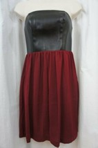 Kensie Dress Sz 2 Beet Red Black Strapless Evening Cocktail Party Dinner... - $39.53