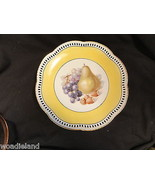 Yelllow & White Reticulated Fruit Plate Schumann Germany 7 5/8 inches - $19.99