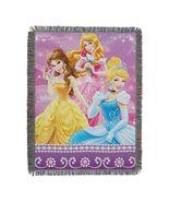 Disney Princesses Sparkle Dream Woven Tapestry Throw Blanket - $31.95
