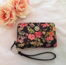 NWT Anne Klein Black Floral Convertible Wristlet Clutch - $25.00