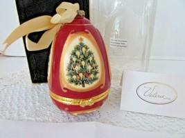 "Mr.Christmas Musical Glass Ornament Trinket Box Valerie Xmas Tree Red 4.25""H Mib - $18.76"