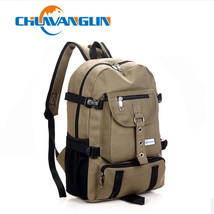 New Fashion arcuate shouider strap zipper solid casual bag male backpack... - $23.36