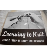 Learning to Knit Vol. 2 - $7.00
