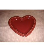 Longaberger 2001 Pottery Heart Plate - $22.00