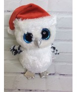 Ty Beanie Boo Tinsel Owl White Claire's Exclusive Holiday 9in Retired Ch... - $16.82