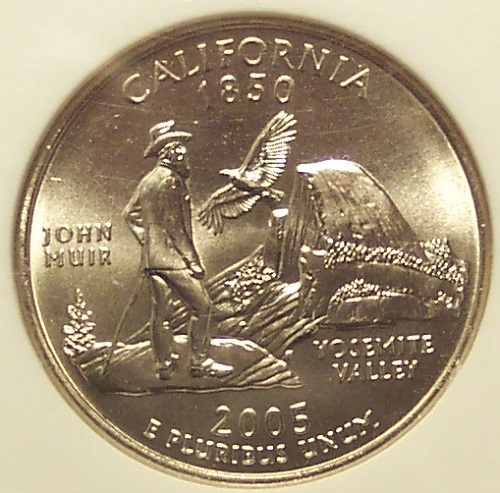 2005-D SMS California Statehood Quarter NGC MS 68 #G10