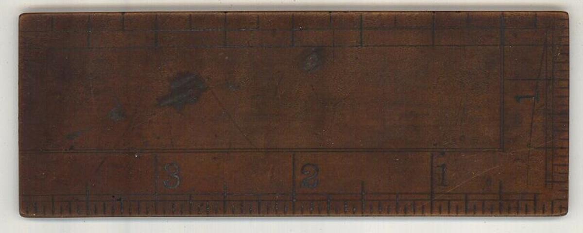 S M Spencer Brattleboro VT advertising ruler antique 1850 measuring tool