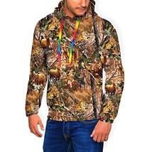 TMVFPYR Camo Hunting Deer Bear Moose Turkey Duck Men's Lined Thick Long Sleeve P
