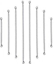 Outus 8 Pieces Stainless Steel Necklace Bracelet Extender Chain Set - $18.83