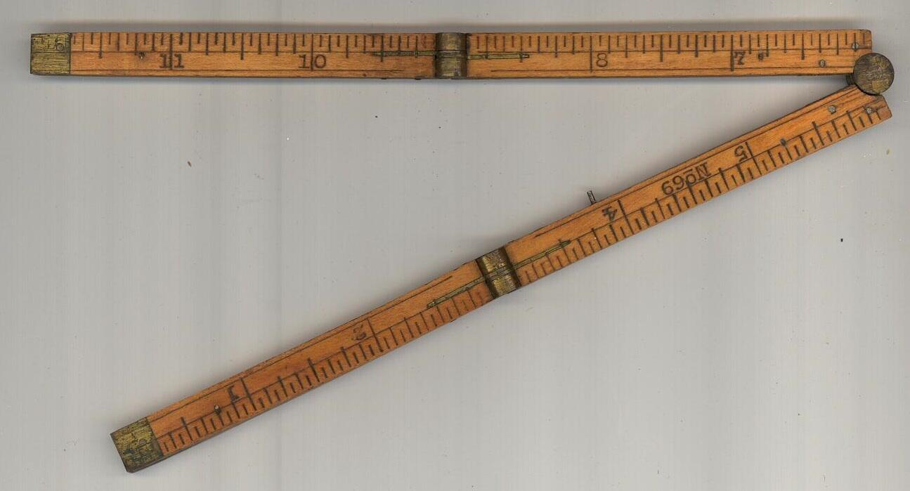 Stanley No 69 folding ruler pocket vintage carpenter measuring tool