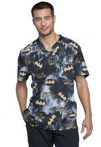 Batman Cherokee Tooniforms DC Comics Mens V Neck Scrub Top TF730 DMKL - $24.97+