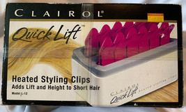 NOS Clairol Quick Lift Heated Styling Clips for Short Hair New in box Un... - $19.79