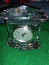 Magnificent LENOX Crystal Monument Mantel CLOCK.....SALE - $19.80