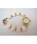 Ceramic Golf Ball Gold Watch Handmade - $26.99