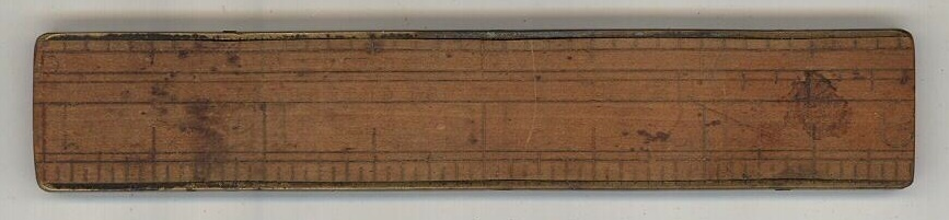 Stanley sliding extention ruler small measuring tool antique vintage brass