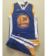 Men's Golden State Warriors #35 Kevin Durant basketball jersey suit blue... - $45.99
