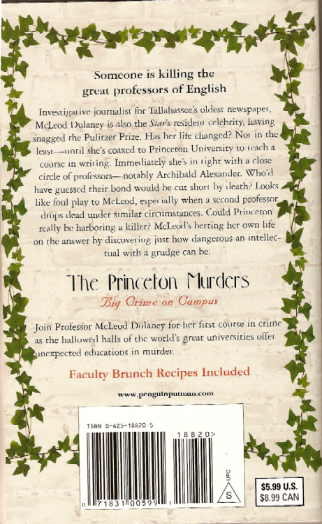 The Princeton Murders by Ann Waldron - Signed by author