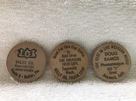 Wooden Nickels-Doug Ramos-R&S Sales- Branding Iron Cafe - $20.00
