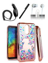 LG Q7 / Q7 Plus Unicorn Glitter Motion Chrome Rose Gold Case Cover - $11.99