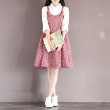 Japanese Sweet Mori Girl Fashion Cute Floral Cotton Sleeveless Loose Sli... - $16.99