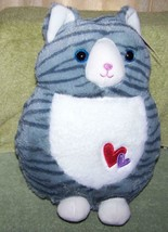 "Kellytoy Whimsical Gray & White Cat Plush 12""H NWT - $8.79"