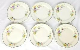 "Lot 6 Homer Laughlin Virginia Rose Dessert Plates 7"" Floral Cream - $34.64"