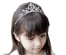 Exquisite Crown Princess Hair Band Baby Hair Band Kids Hair Clasp White