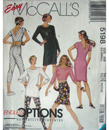 Pattern 5198 sz SM 6.8 Top, Dress, Skirt, Pants Easy to Sew - Stretch Kn... - $5.99