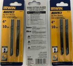 """Irwin Marathon 3071410 4"""" x 10 TPI U-Shank Jigsaw Blades 3 Packs of 2 - $4.95"""