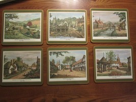 "PIMPERNEL England - English Villages 6 Acrylic Placemats approx. 9"" x 8""... - $26.07"