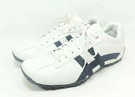 Skechers CityWalk Fashion Sneakers Men's Sz 13 Med White Blue Leather (s... - $32.00