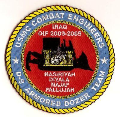 Primary image for US Marine Corps Combat Engineers D-9 Armored Dozer Team Military Patch IRAQ OIF