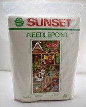 "Vintage 1981 Yuletide Treasures Needlepoint Kit by Sunset - Fits 10"" x 2... - $36.05"