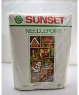 "Vintage 1981 Yuletide Treasures Needlepoint Kit by Sunset - Fits 10"" x 2... - $36.05"