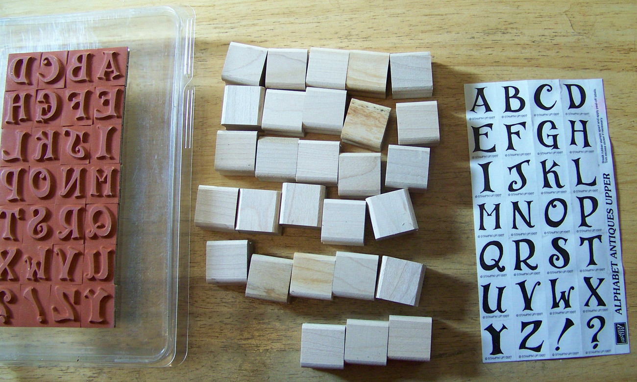 Primary image for Alphabet Antique Upper Letter + set Stampin Up  discontinued 1998 clamshell NEW