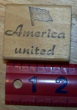 America United with flag patriotic Rubber Stamp - $13.85