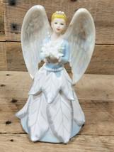 Avon Joyful Flowers Collectible Angel White Poinsettia Figurine 2006 W Box - $19.75