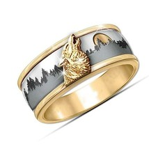 Wolf Ring Fashion women Band size 6 - $35.00