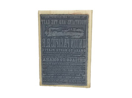 Stampendous 2011 Railroad Poster Rubber Stamp #P656 image 2