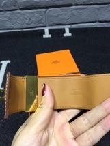 Authentic Hermes Camel Beige CDC Collier De Chien Leather Gold Bracelet Cuff PM image 4