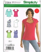 Simplicity 2364 Tops with Style Variations Sewing Pattern - $11.95