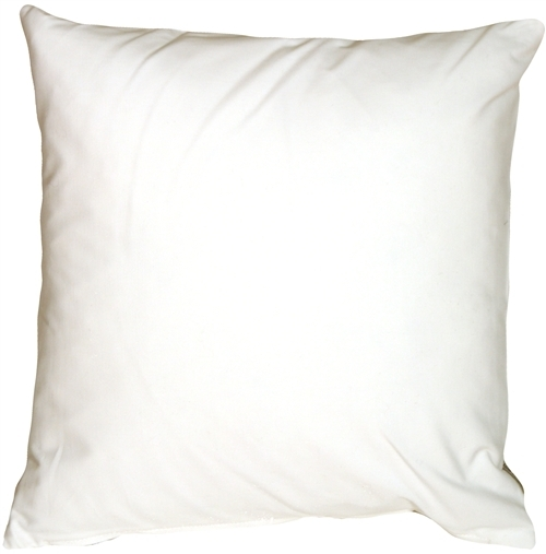 Pillow Decor - Caravan Cotton White 23x23 Throw Pillow