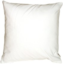 Pillow Decor - Caravan Cotton White 23x23 Throw Pillow - $37.95