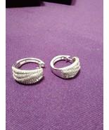 Ladies 14K White Gold Over Sterling Silver 0.54 CTW Diamond Earrings - $138.59