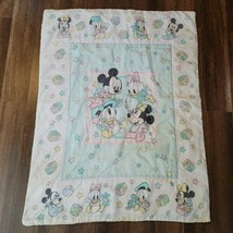 DUNDEE DISNEY BABIES MICKEY MOUSE MINNIE DONALD DAISY QUILT BLANKET COMF... - $118.79