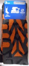 Boys Starter Crew Socks 3 Pair Size Medium 10-2 1/2 Orange Grey Cushion ... - $7.91