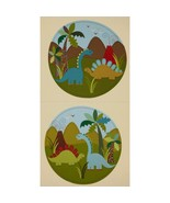 """Michale Miller Dinosaur Quilt Top 100% cotton 23''x 44""""  fabric by the p... - $5.89"""