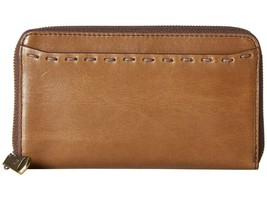 HOBO THE ORIGINAL LEATHER HONOR ZIP AROUND COMPACT CLUTCH WALLET MINK - $111.43 CAD