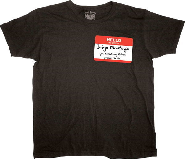 Primary image for The Princess Bride Movie Inigo Montoya Name Tag T-Shirt Size SMALL, NEW UNWORN